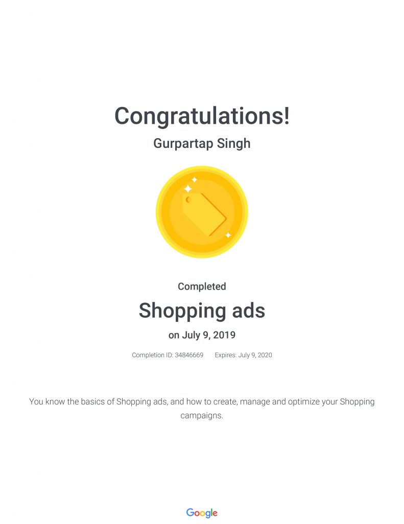 Google Certified digital marketing